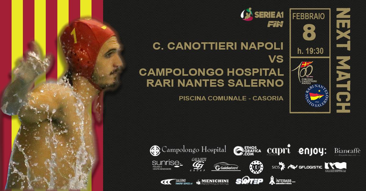A Napoli sfida cruciale in chiave salvezza tra Canottieri e Campolongo Hospital Rari Nantes Salerno