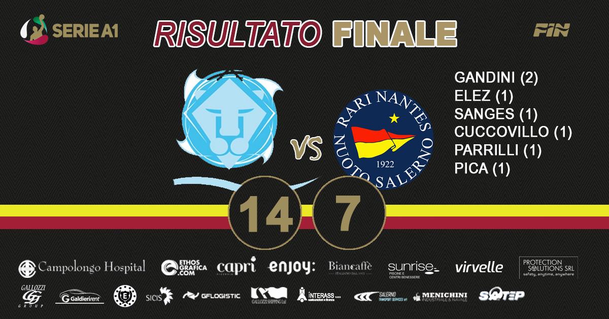 La Campolongo Hospital Rari Nantes Salerno sconfitta a Brescia. Sabato sfida cruciale con la Lazio