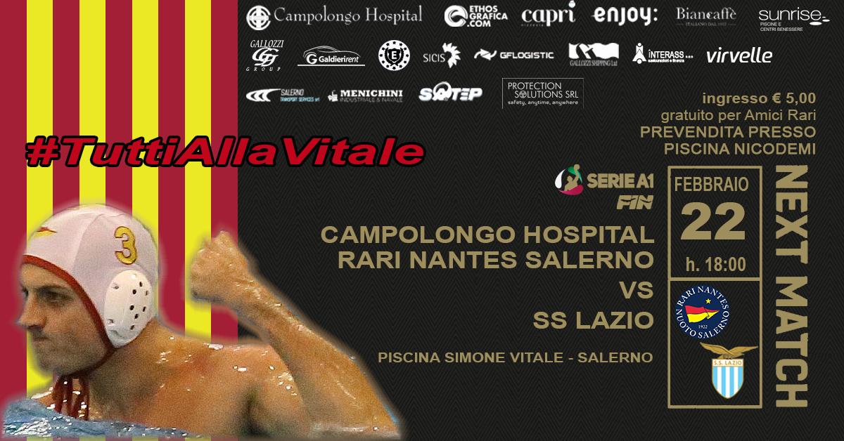 Alla piscina Vitale match salvezza tra la Campolongo Hospital Rari Nantes Salerno e la SS Lazio