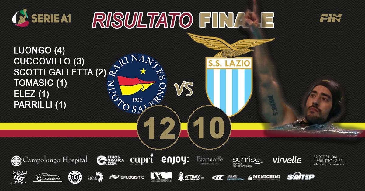 La Campolongo Hospital Rari Nantes Salerno batte 12-10 la SS Lazio e vede la salvezza