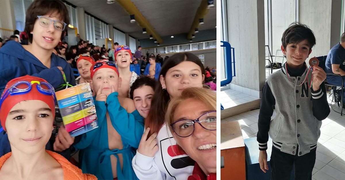 I giovanissimi nuotatori della Rari al 19° Campionato Regionale di Nuoto del CSI